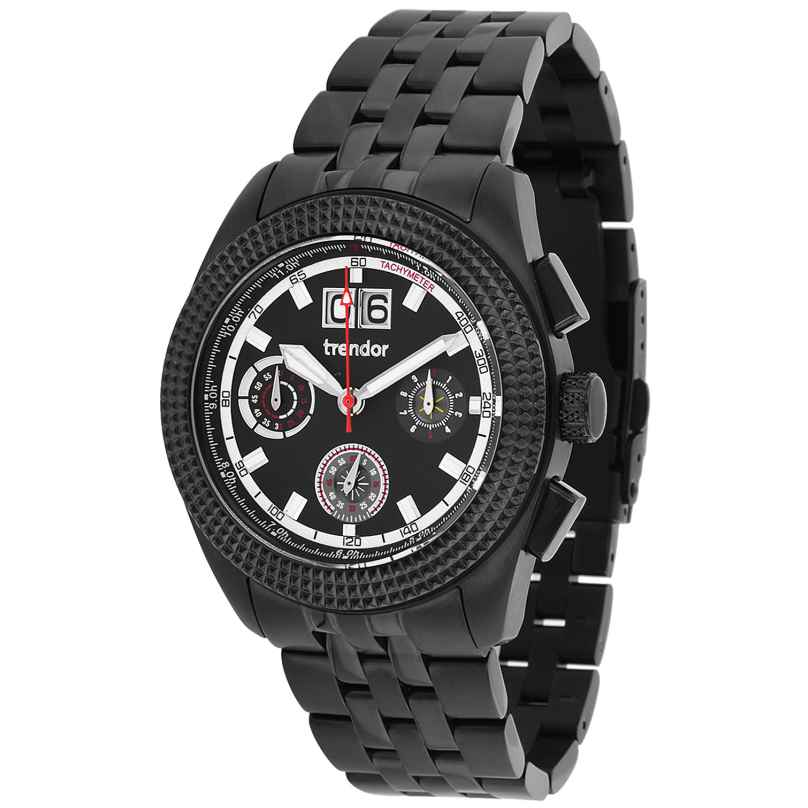 trendor 7636-03 Mens Chronograph with Big Date 4260333976496