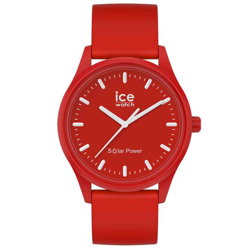 Ice-Watch 017765 Solar Wristwatch Red Sea M 4895164095766