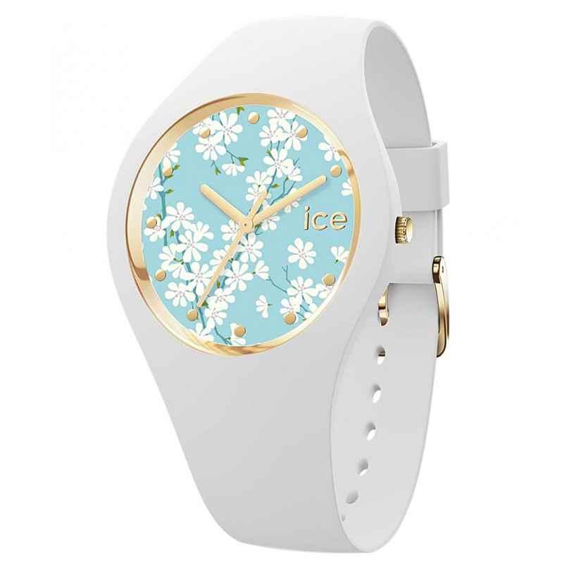 Ice-Watch 019202 Damenuhr ICE Flower M Weiß/Sakura 4895173302411