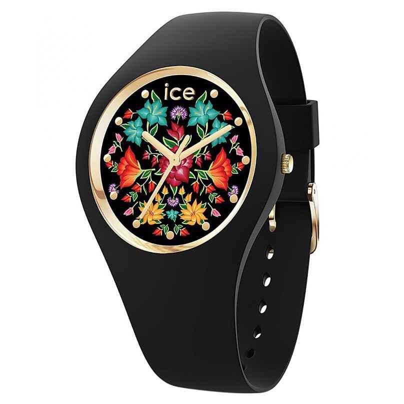 Ice-Watch 019206 Damenuhr ICE Flower M Schwarz/Bunt 4895173302459
