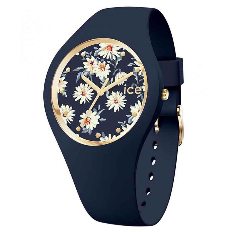 Ice-Watch 019208 Damen-Armbanduhr ICE Flower M Dunkelblau/Gänseblümchen 4895173302473