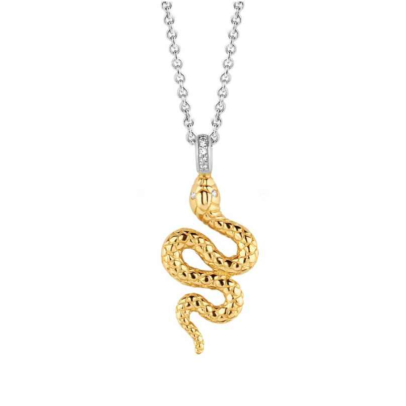 Ti Sento 3923SY Ladies' Necklace Snake Gold-Plated Silver 8717828208021