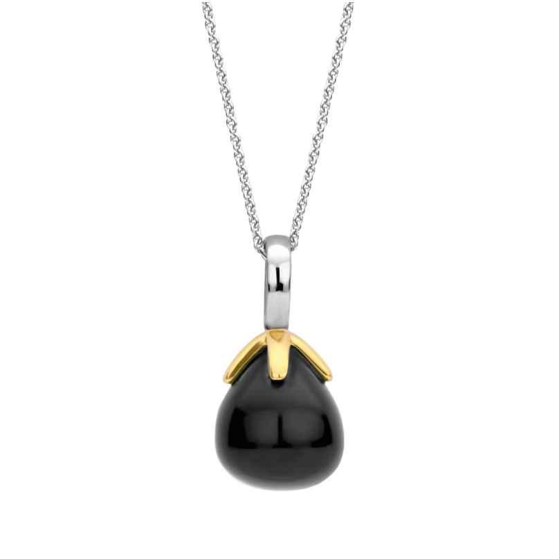 Ti Sento 6765BO Women's Silver Necklace Black Pendant 8717828227527