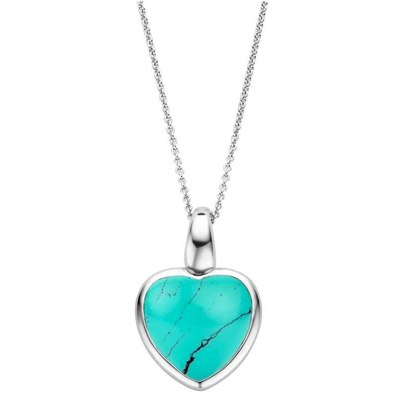 Ti Sento 6800TQ Women's Necklace with Turquoise Heart Silver 8717828233320
