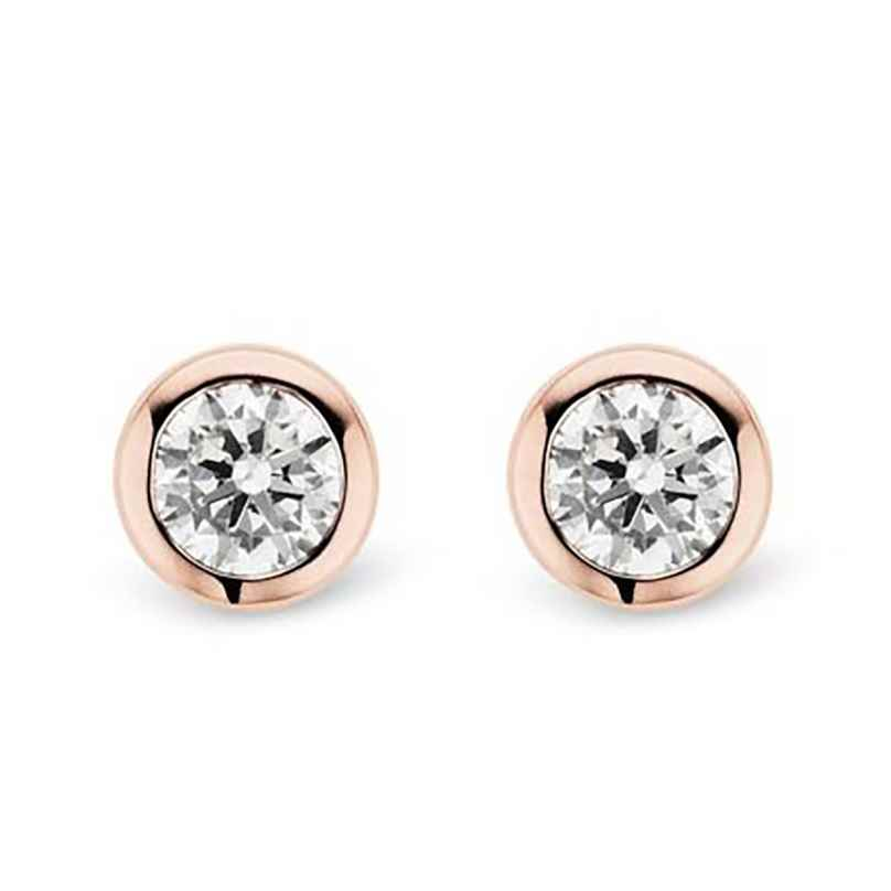 Ti Sento 7597ZR Women's Stud Earrings Rose Gold Plated 8717828103869