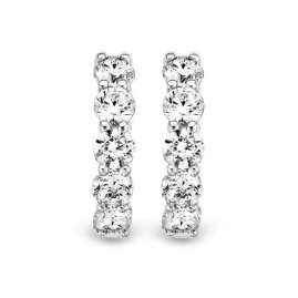 Ti Sento 7718ZI Ladies' Hoop Earrings 925 Silver