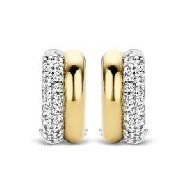 Ti Sento 7643ZY Damen-Ohrringe Creolen Silber Bicolor
