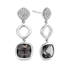Ti Sento 7807GB Damen-Ohrringe Ohrhänger Silber Grau