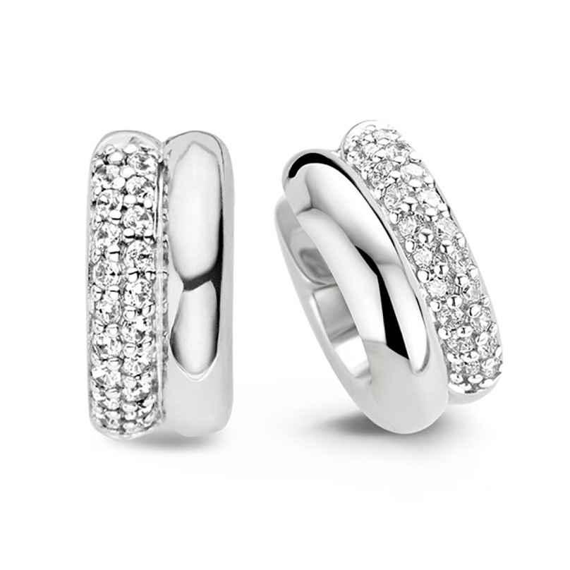 Ti Sento 7643ZI Ladies' Hoop Earrings with Cubic Zirconia 925 Silver 8717828093979