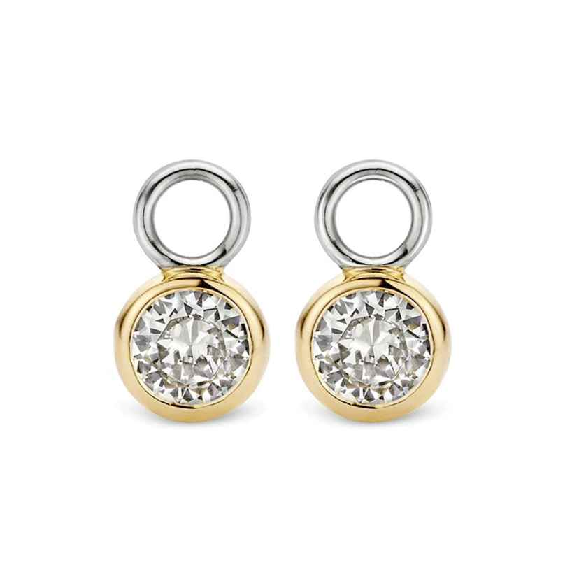 Ti Sento 9180ZY Earring Pendants White Cubic Zirconia Two-Colour 8717828182444