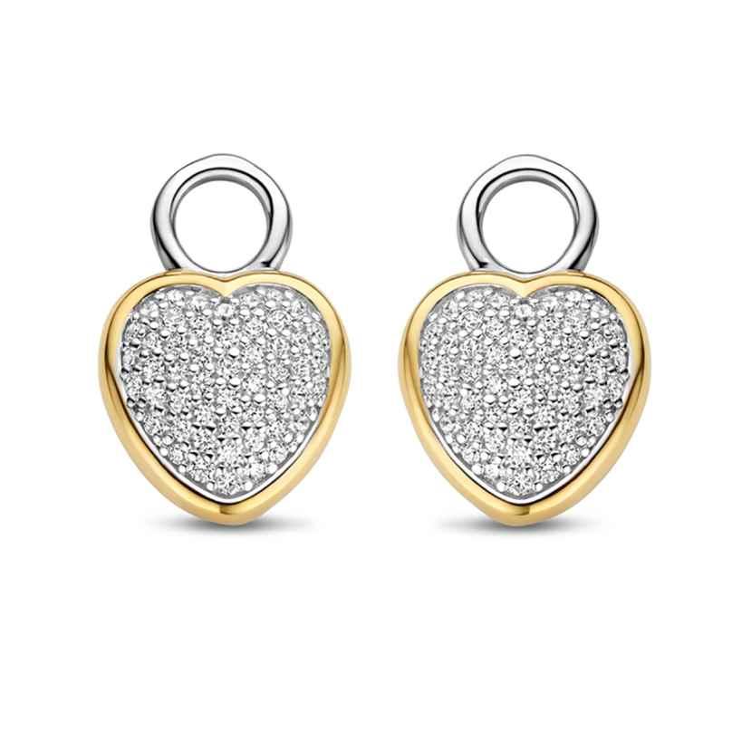 Ti Sento 9232ZY Earring Pendants Heart Two-Colour 8717828233153