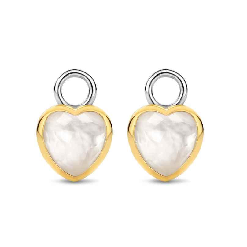 Ti Sento 9238MW Earring Pendants Mother-of-Pearl Heart 8717828236147