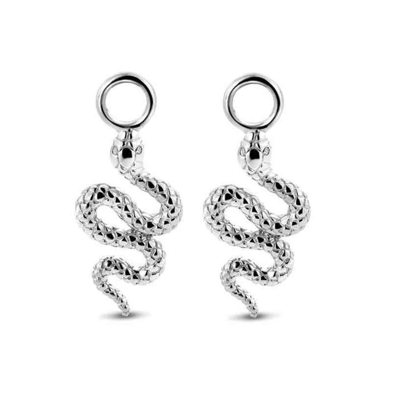 Ti Sento 9200SI Ohrring-Anhänger Schlange Silber 8717828221303