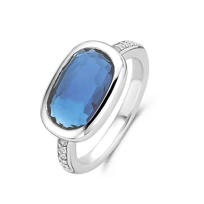 Ti Sento 12139DB Women's Ring with Blue Stone