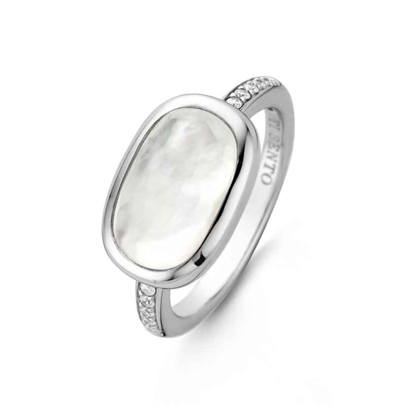 Ti Sento 12139MW Ladies' Ring with White Mother-of-Pearl