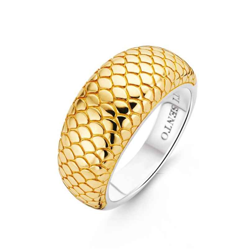 Ti Sento 12162SY Ladies' Ring Snake Pattern Gold Plated Silver