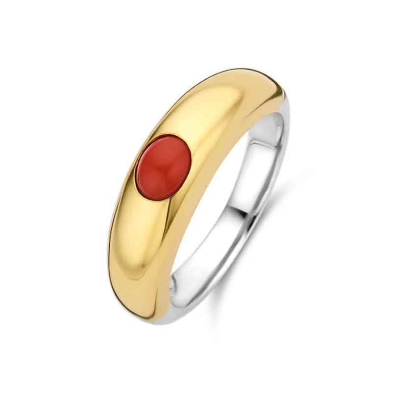 Ti Sento 12185CR Ladies' Ring Gold-Plated Silver