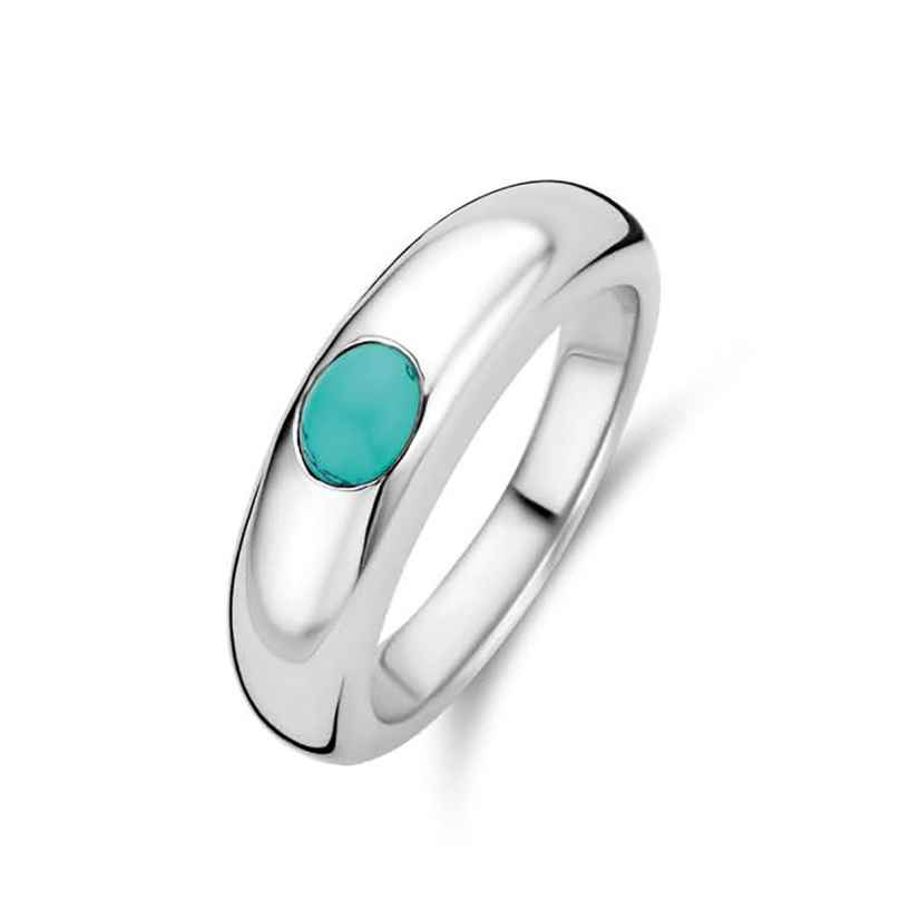 Ti Sento 12185TQ Silver Women's Ring with Turquoise Stone