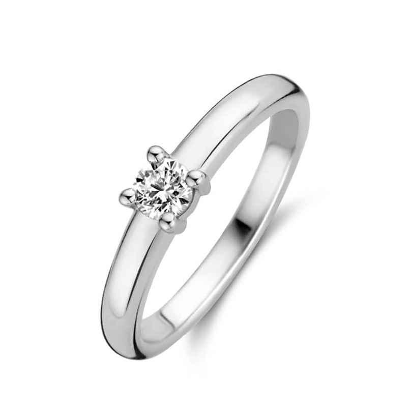 Ti Sento 12212ZI Ladies' Solitaire Ring Silver