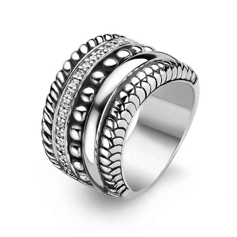 Ti Sento 1835ZI Ladies' Ring Blackened Silver