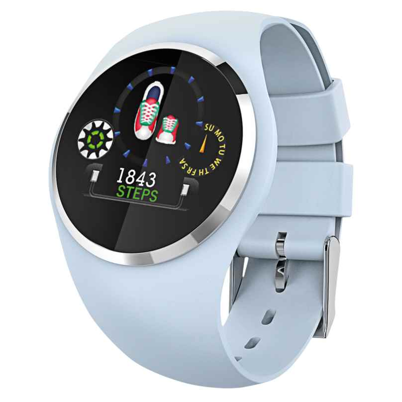 Atlanta 9703/5 Smartwatch mit Touchdisplay Hellblau 4026934970352