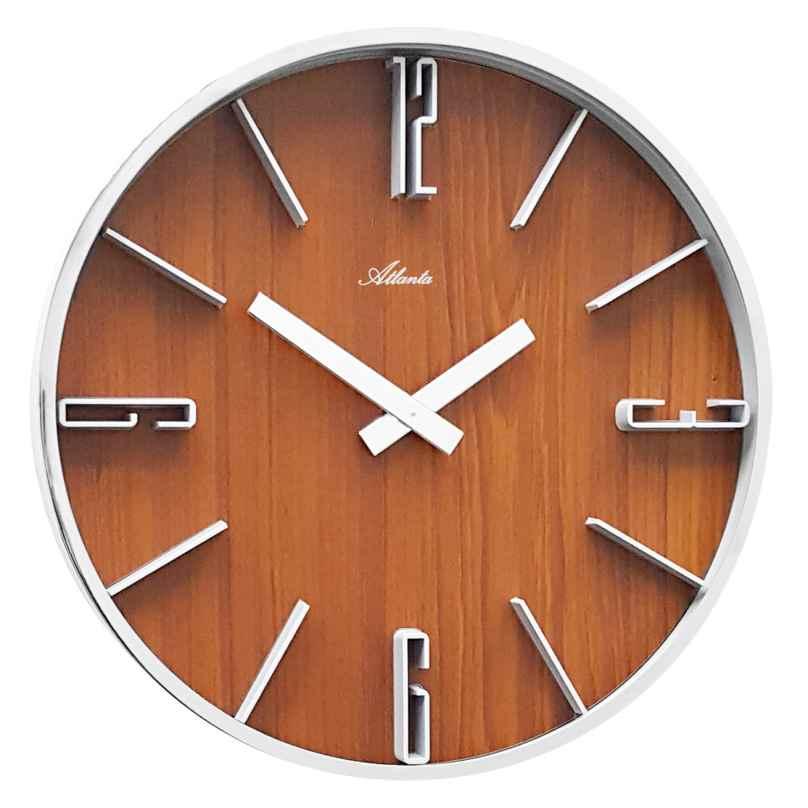 Atlanta 4426/20 Quartz Wall Clock Walnut 4026934442620