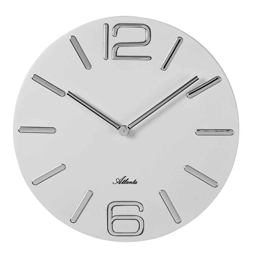 Atlanta 4512/0 Wall Clock Quartz White 4026934451202
