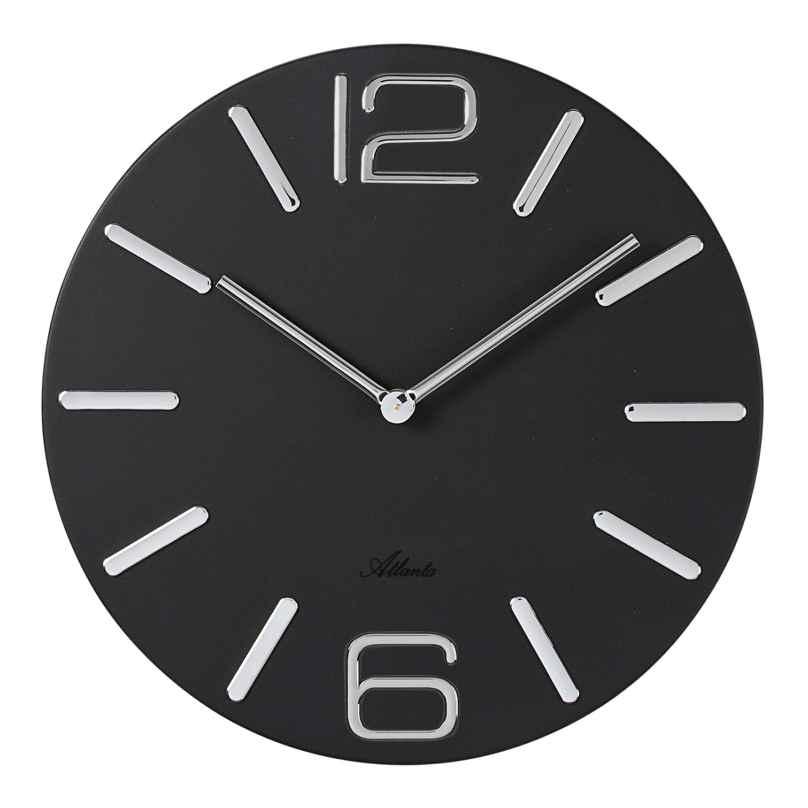 Atlanta 4512/7 Wall Clock Quartz Black 4026934451271