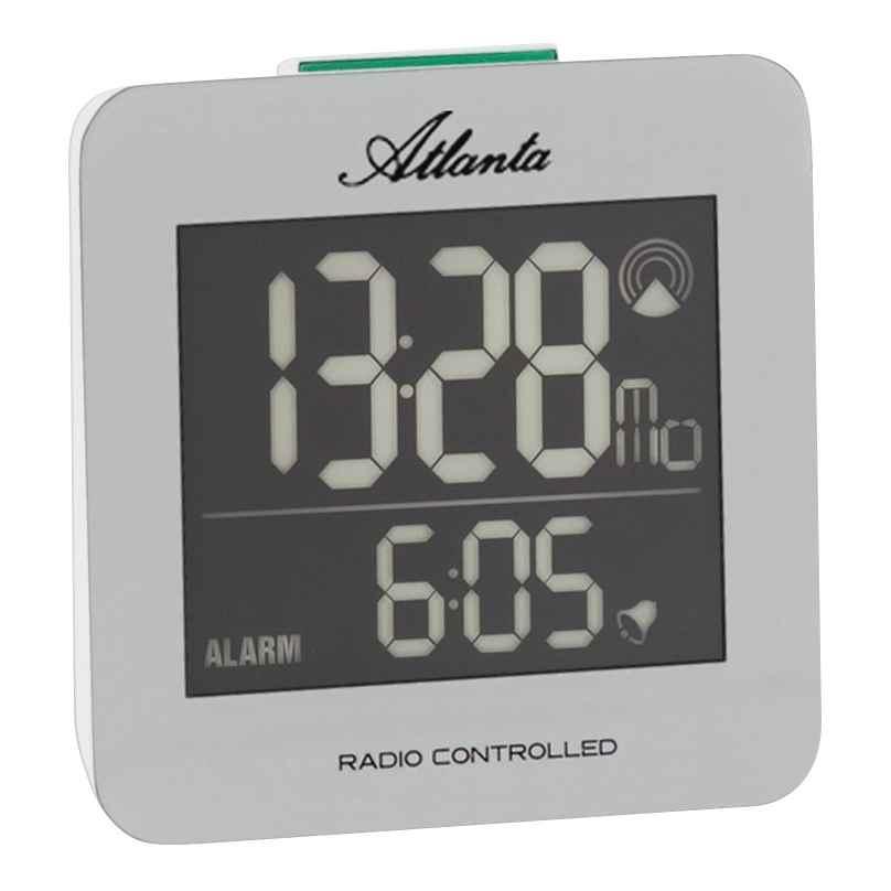 Atlanta 1812/19 Radio-Controlled Digital Alarm Clock 4026934181215