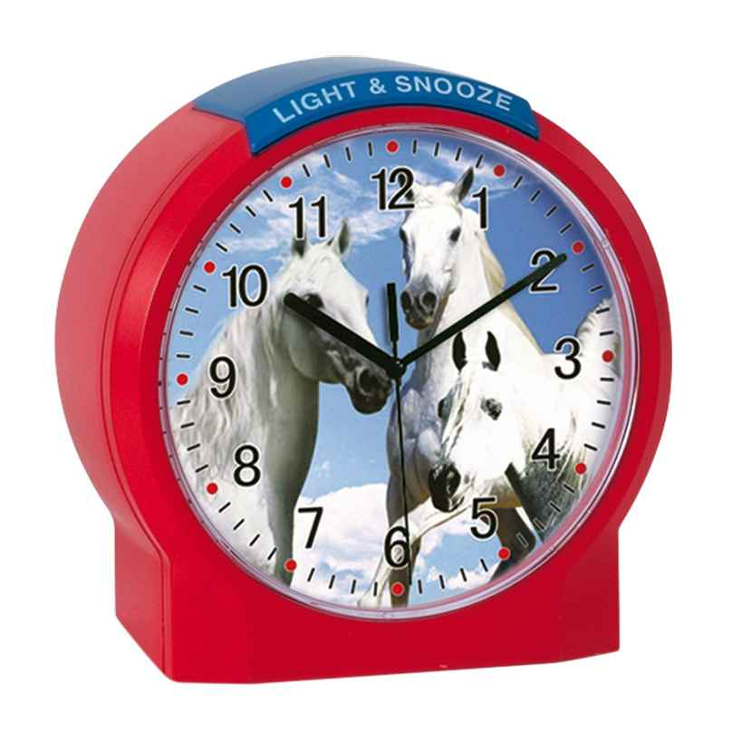 Atlanta 1189/1 Kids Alarm Clock Horses 4026934118914
