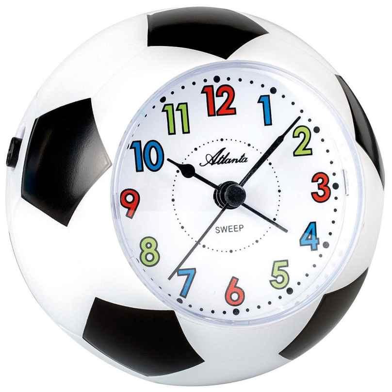 Atlanta 1199 Fußball-Wecker für Kinder mit Leisegang 4026934119904