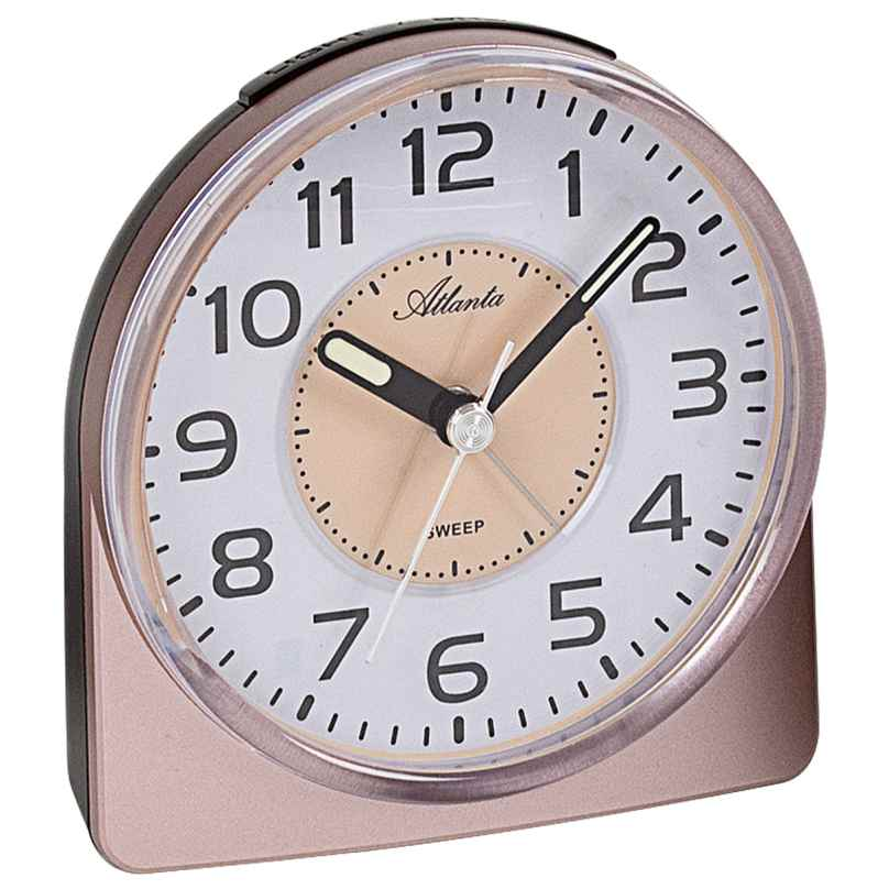 Atlanta 1996/18 Quarz-Wecker mit Leisegang Uhrwerk kupferfarben 4026934199623