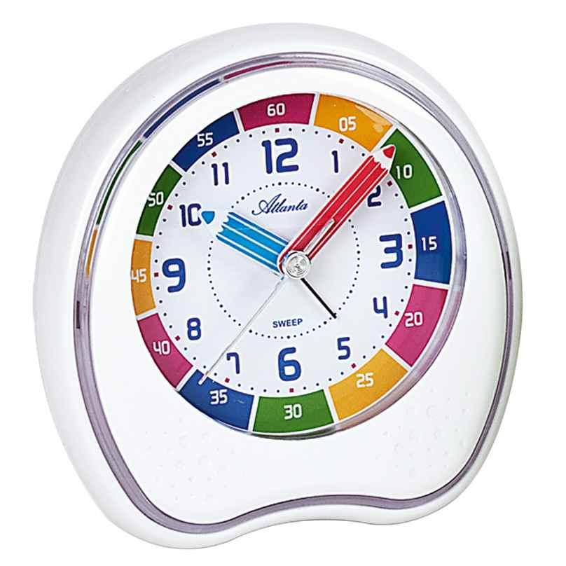 Atlanta 1953/0 Quartz Alarm Clock with Repetition White 4026934195304
