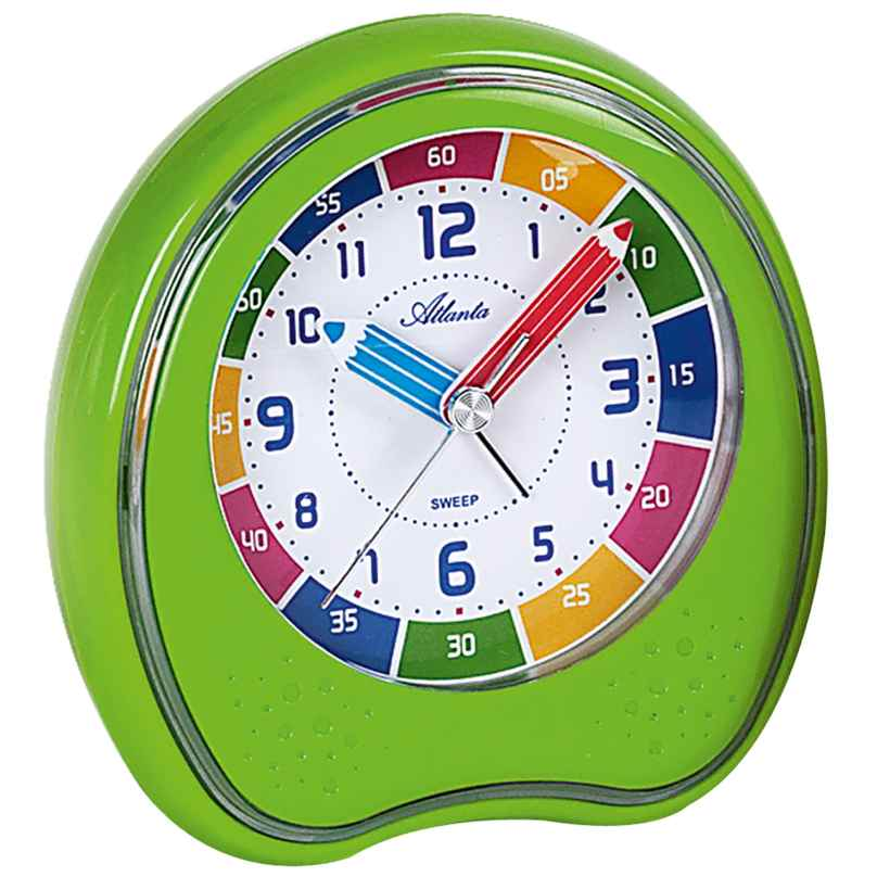 Atlanta 1953/6 Children's Alarm Clock with Repetition Green 4026934195366