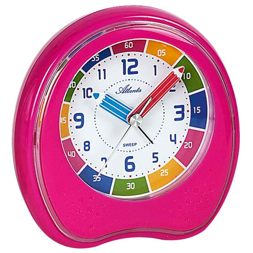 Atlanta 1953/17 Kids Learning Alarm Clock with Repetition Pink 4026934195311