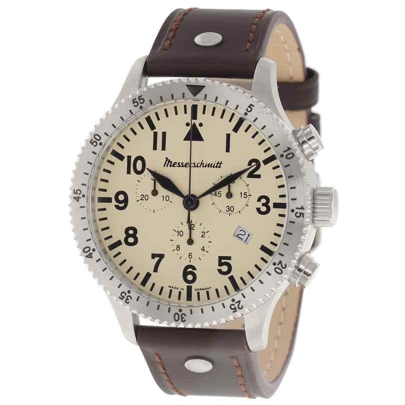 Messerschmitt ME-5030Beige Herren-Chronograph 4260186267154