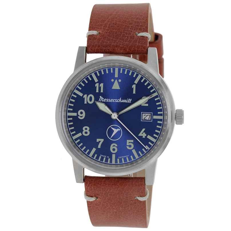 Messerschmitt ME-9673BLVIN Herrenuhr mit Lederband blau / braun 4260186269103