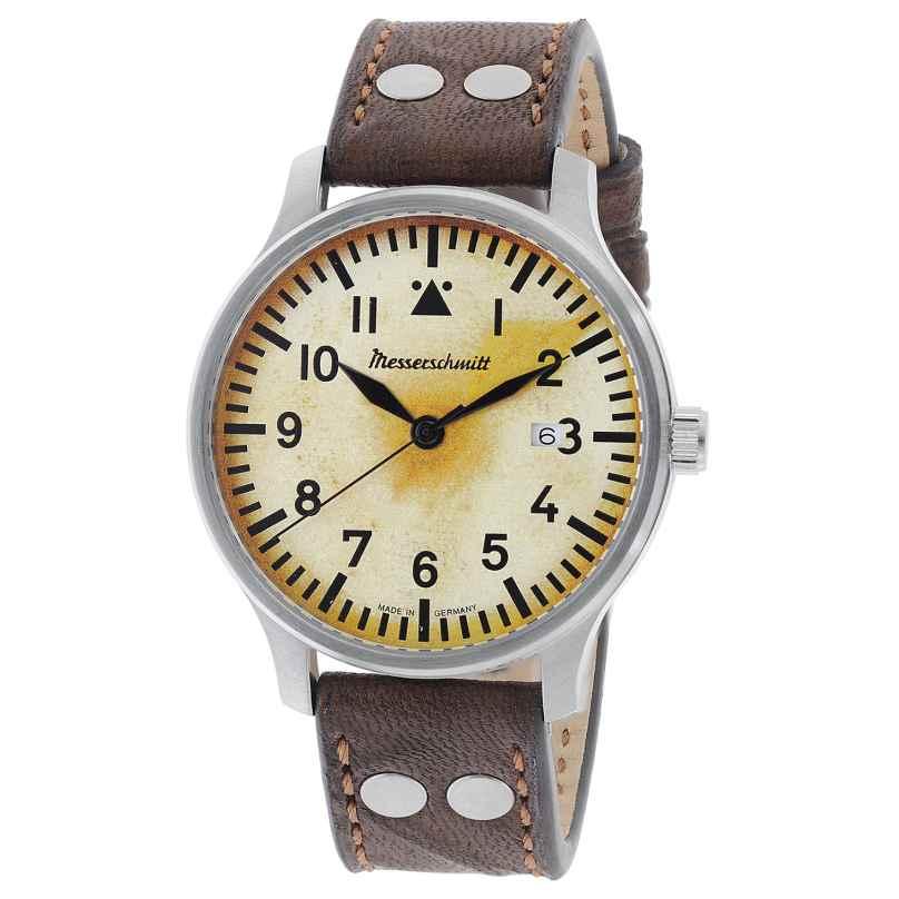 Messerschmitt ME-42VINTAGE-1 Men's Pilot Watch Brown 4260186269608