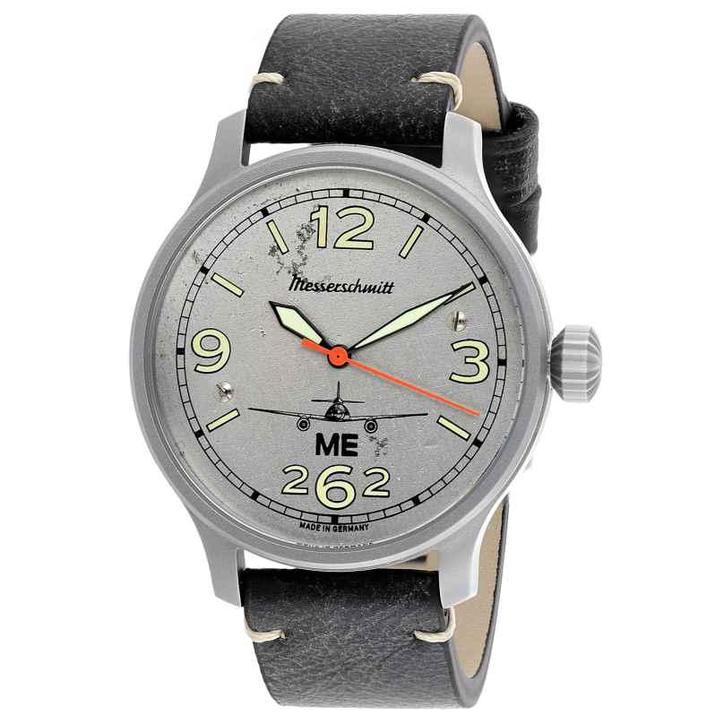 Messerschmitt ME262-42AERO-L Herren-Automatikuhr mit Lederband 4260186264078