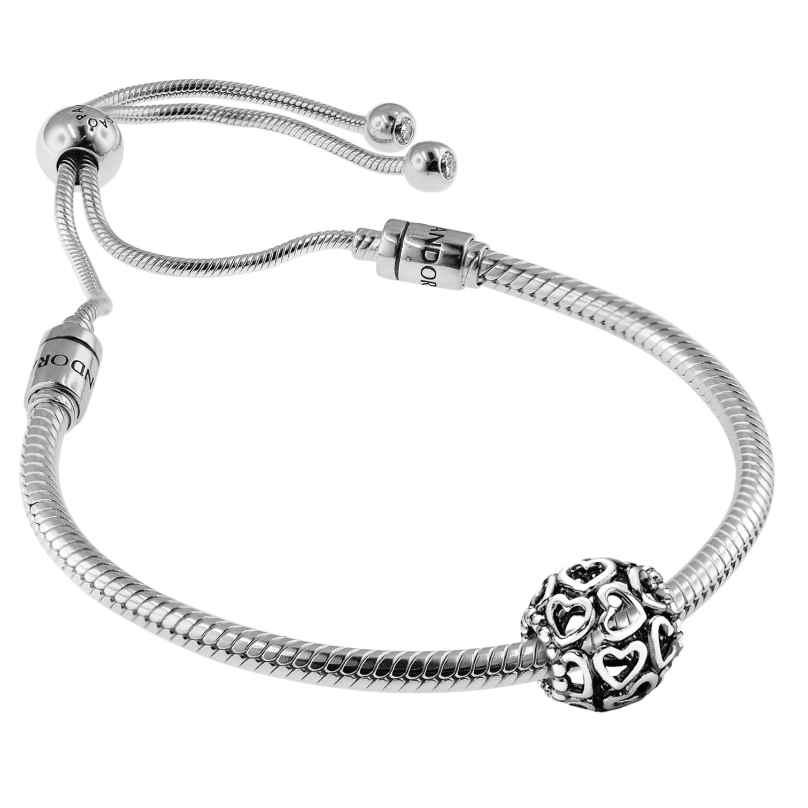 Pandora 08664 Bracelet Set Moments Sliding and Charm Open Your Heart 4260497086642