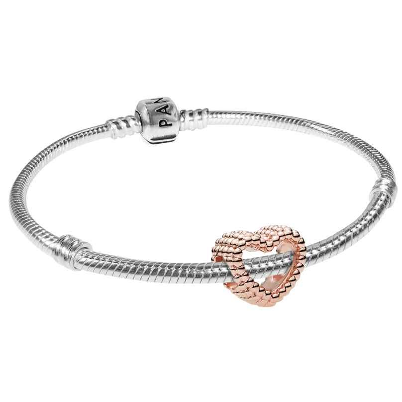 Pandora 08666 Armband-Set Beaded Heart Rose
