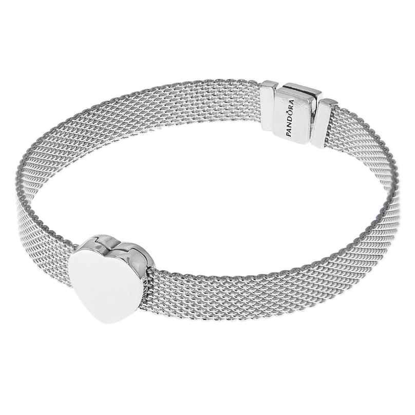 Pandora 75333 Reflexions Silber Damen-Armband mit Herz-Clip