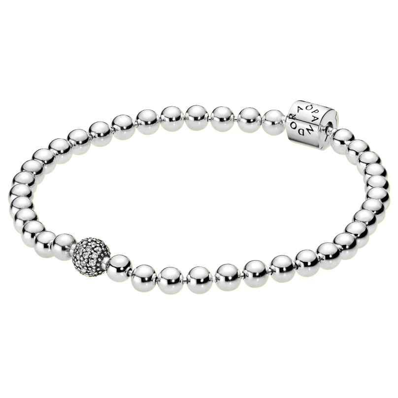 Pandora 598342CZ Bracelet for Ladies Beads & Pavé