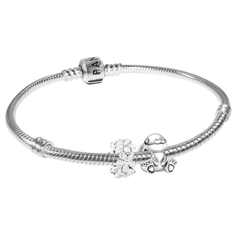 Pandora 75706 Silber-Armband Nini der Hase mit Gänseblümchen