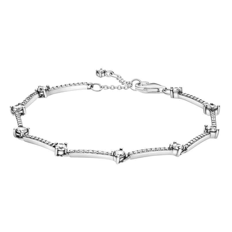 Pandora 599217C02 Damen-Armband Funkelnde Pavé-Stäbe Weiß
