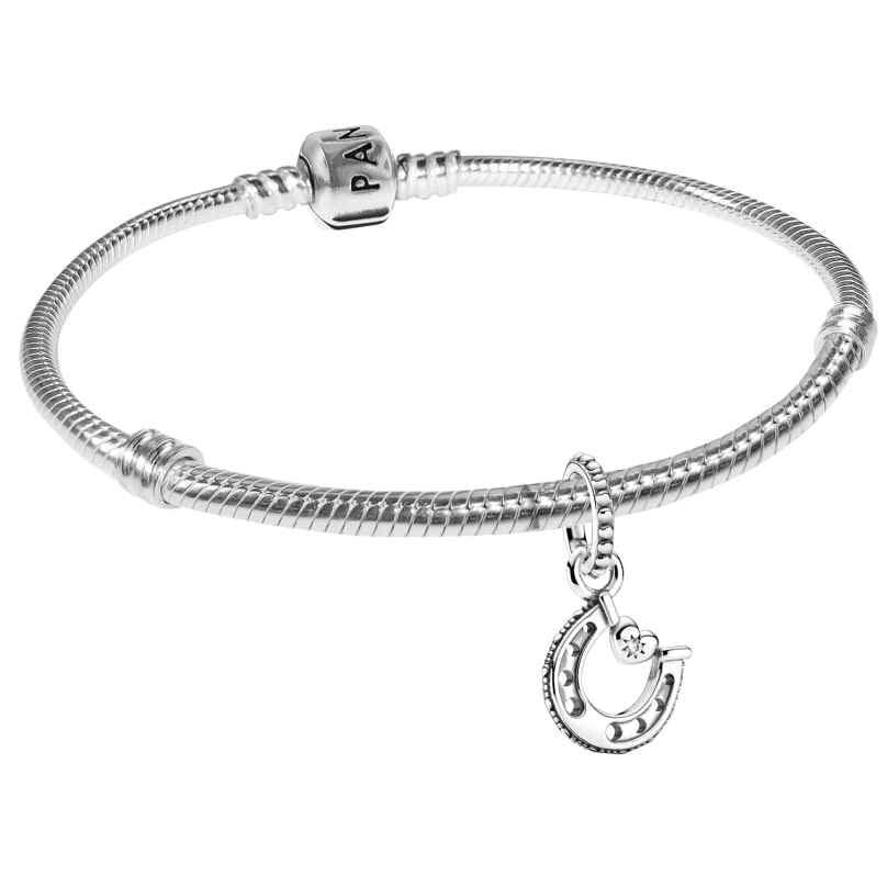 Pandora 39720 Bracelet Starter Set Horseshoe 925 Sterling Silver