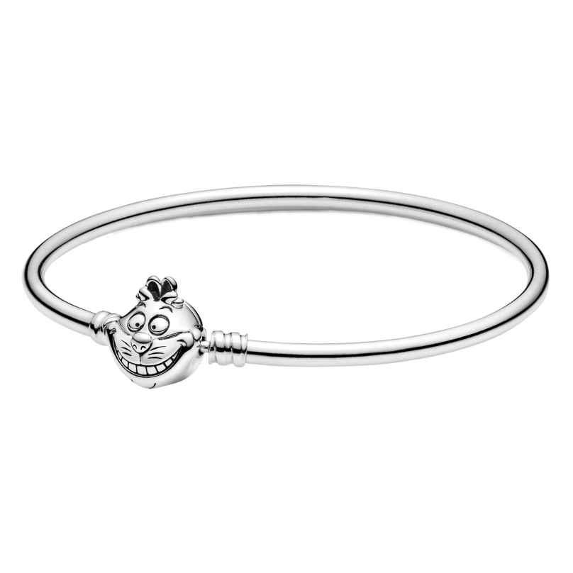 Pandora 599343C00 Silber Damen-Armreif Alice im Wunderland Grinsekatze