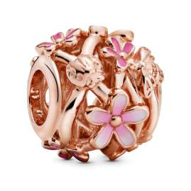 Pandora 39963 Damen-Armband Pinke Gänseblümchen