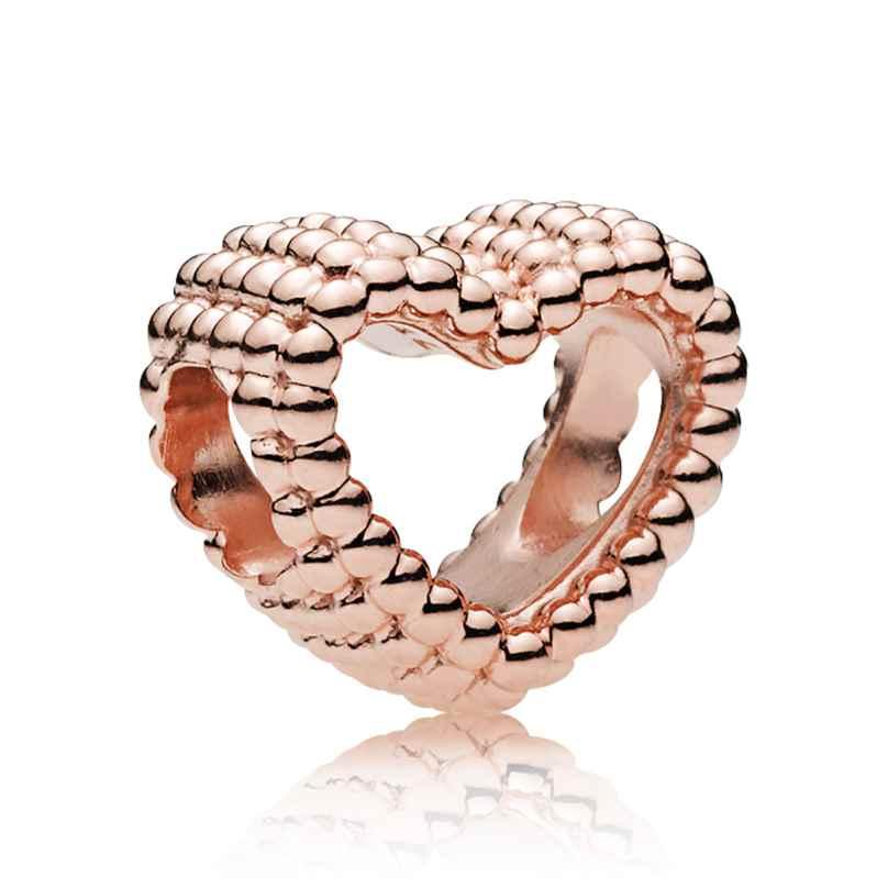 Pandora 787516 Rose Charm Beaded Heart 5700302693553