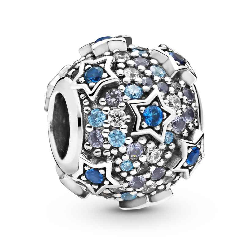 Pandora 798467C01 Silver Charm Elevated Stars Pavé 5700302826654